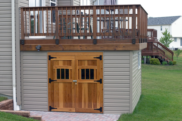 Under Deck Storage Ideas http://panofish.net/building-a-shed-under-a-deck/
