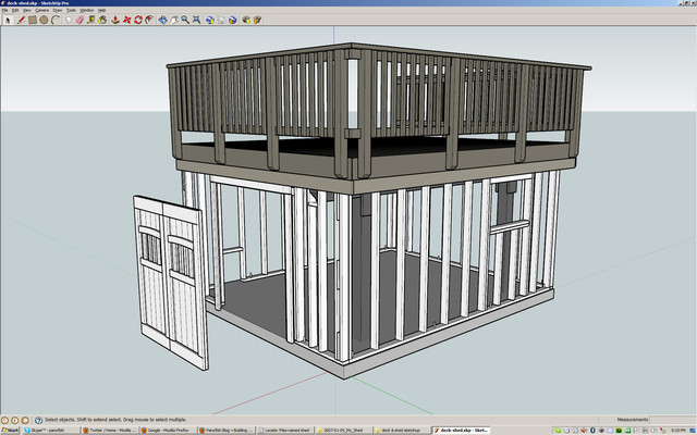 Panofish Building a Shed under a Deck – Flat Roof Garage With Deck Plans