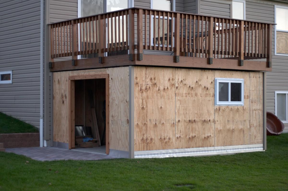 Metal Shed Wood Grain 10 X 12 Building Storage Under Deck
