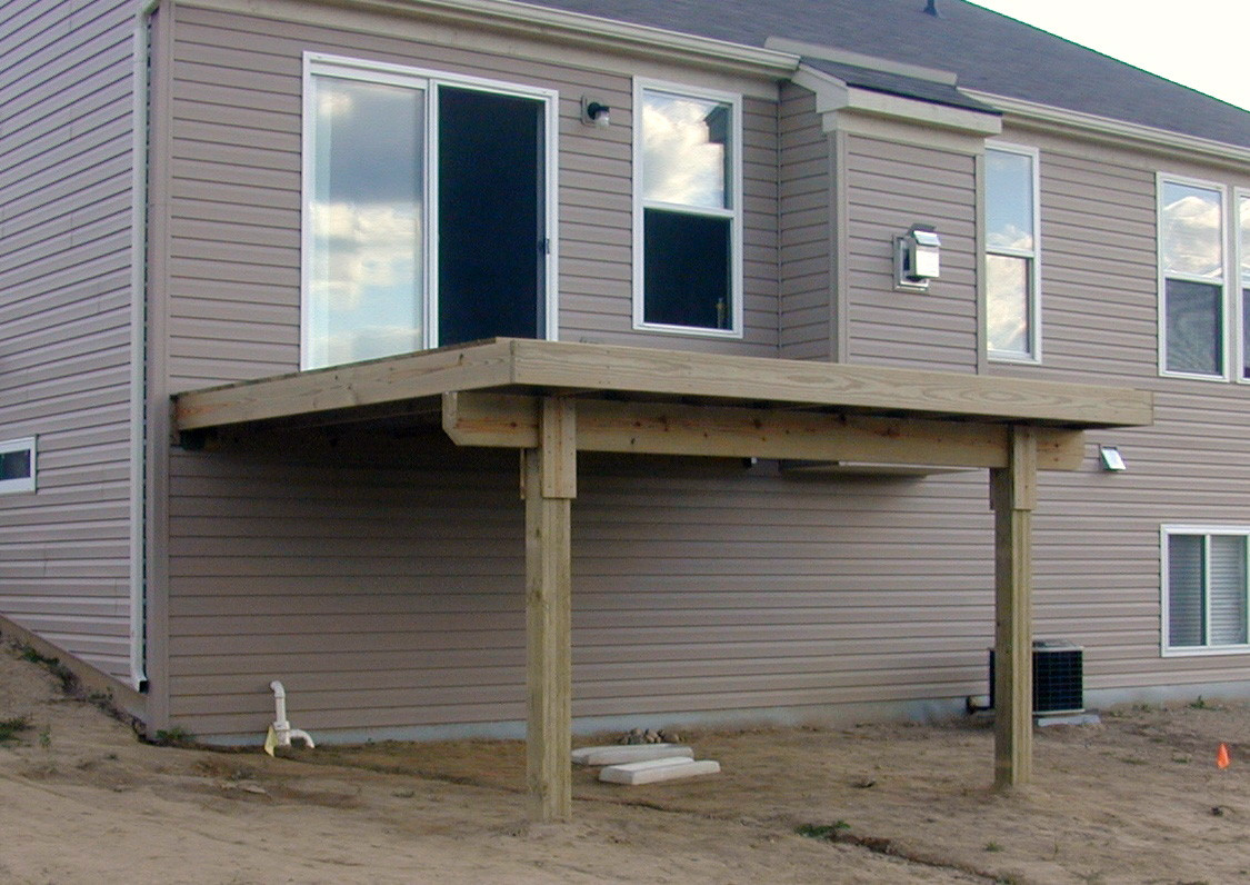 Attaching deck to house with siding - An Error Occurred